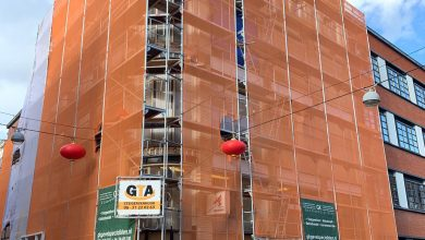 Eerste warenhuis van Den Haag 'Burgwal' staat in de steigers!