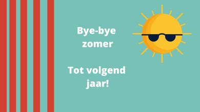 Het einde van de zomervakantie